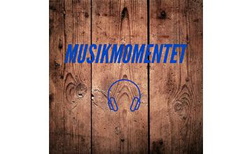 Billedet viser logoet for podcasten Musikmomentet