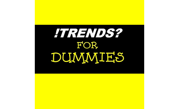 Billedet viser logoet for podcasten Trends for dummies